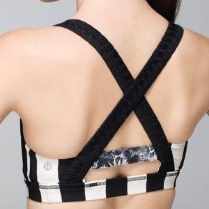 Lululemon Inner Heart Bra Stripe Black 10